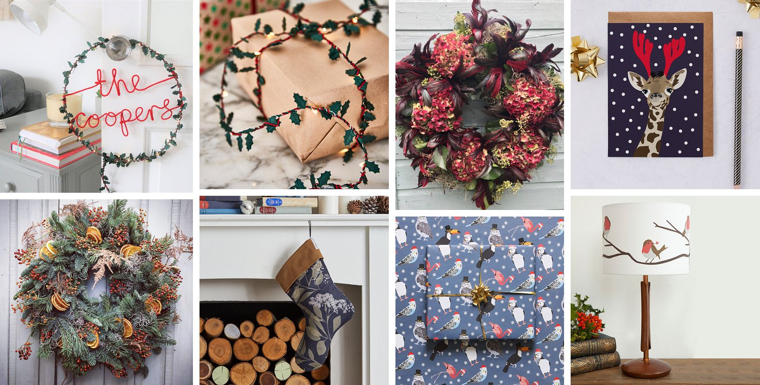 Image showing products for sale in the Decorcafe Christmas shop 2020