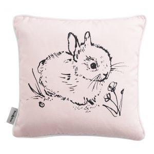 Bear & Beau Little Bunny Pink Cushion 40 x 40 cms Cutout Image at The Decorcafe