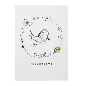 Bear & Beau Mini Beasts Art Print at The Decorcafe