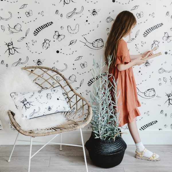 Mini Beasts Wallpaper by Bear & Beau at The Decorcafe - Lifestyle Image