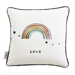 Bear & Beau Rainbow Love Cushion Front at The Decorcafe