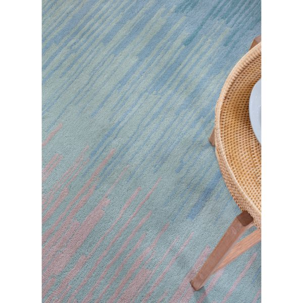 Blue Green Ombre Rug by Claire Gaudion