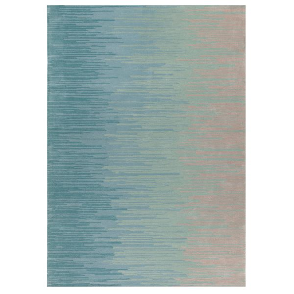 Ombre Rug by Claire Gaudion in soft blue and green colours