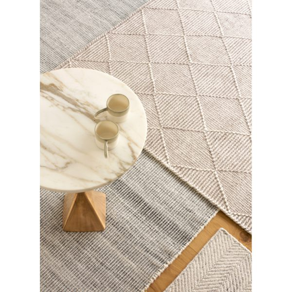 Claire Gaudion Zala Natural Rug made from recycled plastic bottles