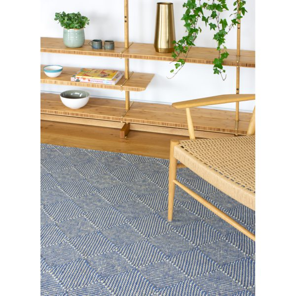 Zala Denim Recycled Plastic Bottle Rug by Claire Gaudion