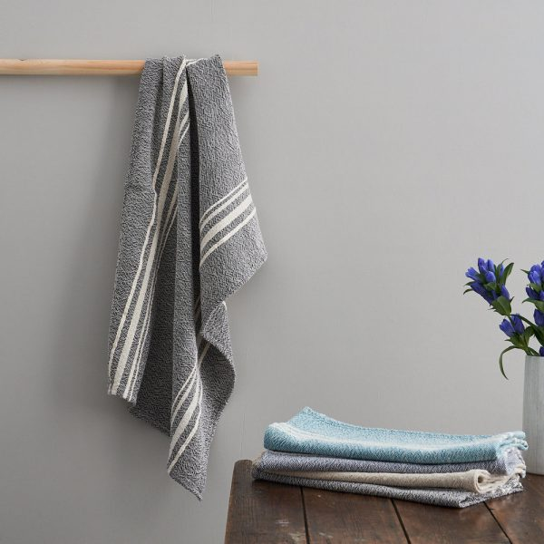 Barrydale Hand Towels with Large Stripes by Craft Editions at The Decorcafe