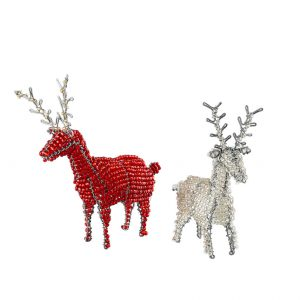 Craft Editions Beaded Reindeer Table Ornament at The Decorcafe
