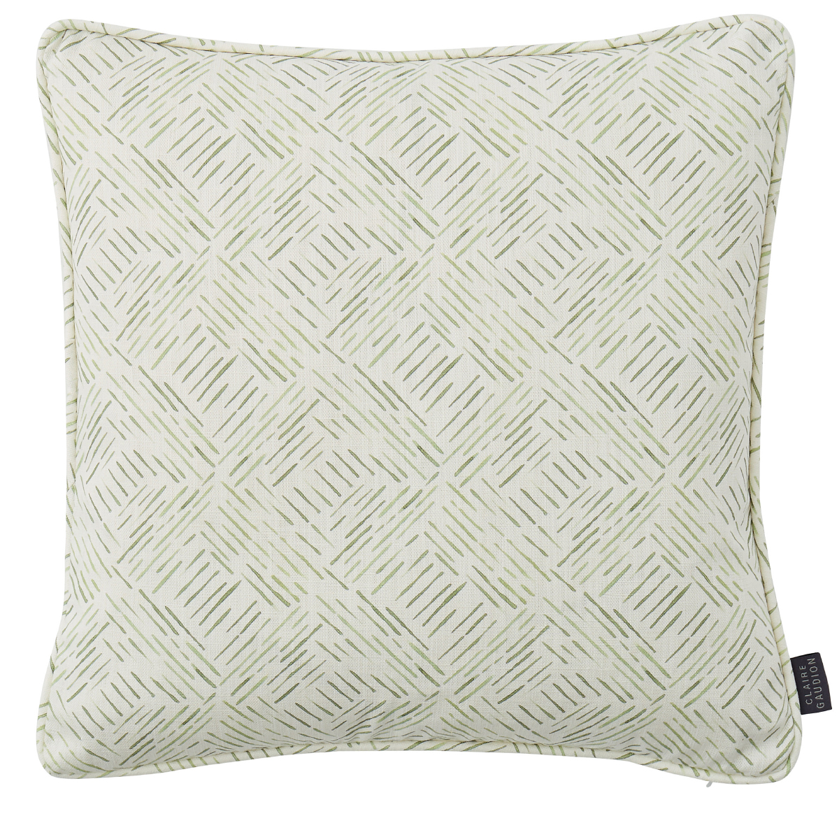 Grassland Sage Green Cushion by Claire Gaudion