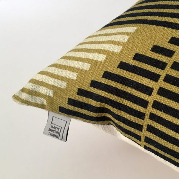 Stripe Story Cushion by Marie Murphy Studio at The Decorcafe - Detail Imagea