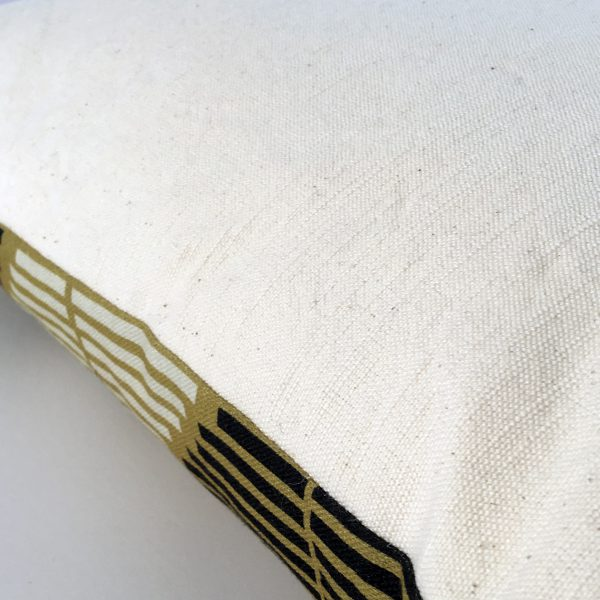 Stripe Story Cushion by Marie Murphy Studio at The Decorcafe - Detail Reverse Imagea