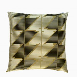 Stripe Story Cushion by Marie Murphy Studio at The Decorcafe - Cutout Imagea