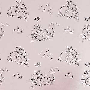 Little Bunny Pink Wallpaper by Bear & Beau at The Decorcafe - Detail Image