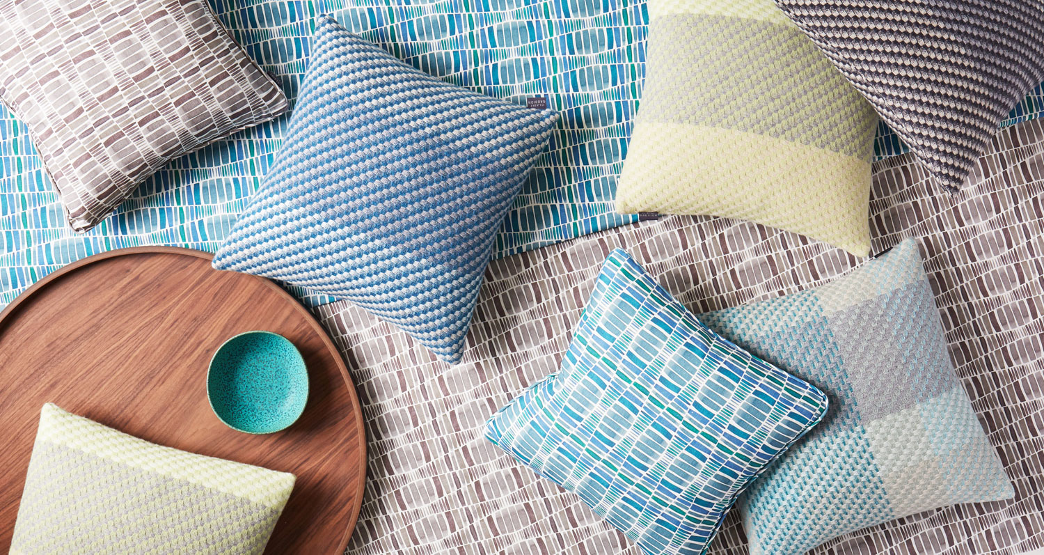 Claire Gaudion Cushions and Rugs for Image on Brand Page at The Decorcafe