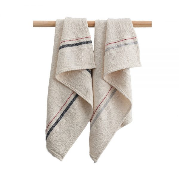 Barrydale Hand Towel with Small Stripe by Craft Editions at The Decorcafe