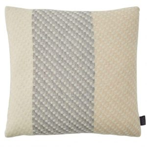 Ecru Cushion woven in lambswool silk and merino - by Claire Gaudion