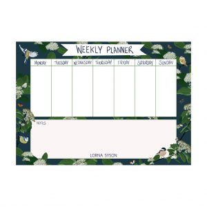 Bird Weekly Planner by Lorna Syson at The Decorcafe - Cutout Image