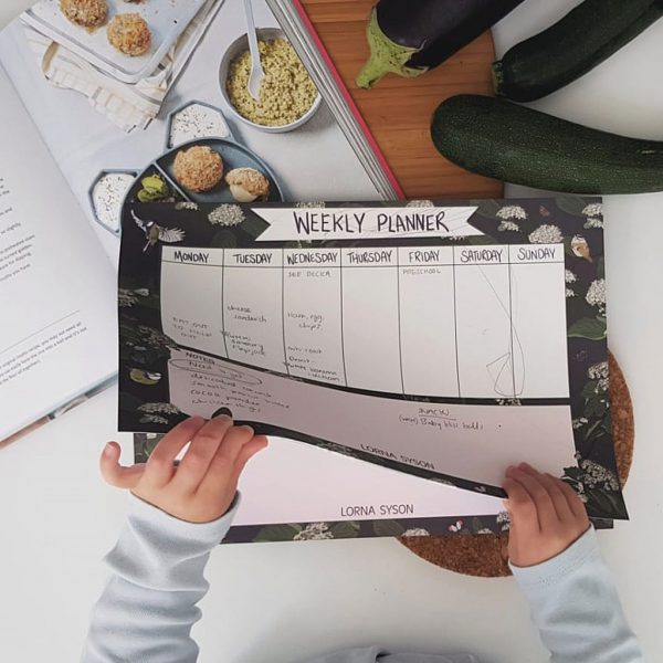 Bird Weekly Planner by Lorna Syson at The Decorcafe - Lifestyle Image