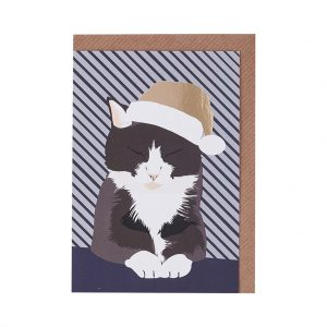 Bruce the Cat Christmas Card by Lorna Syson at The Decorcafe - Cutout Image