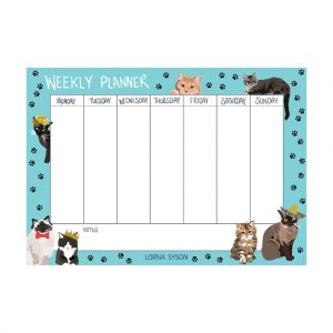 Cat Weekly Planner by Lorna Syson at The Decorcafe - Cutout Image