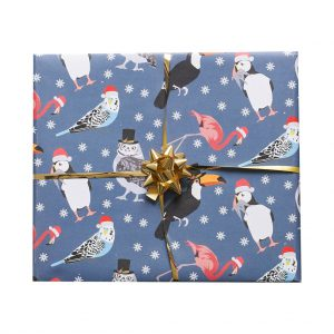 Tropical Birds Christmas Wrapping Paper by Lorna Syson at The Decorcafe