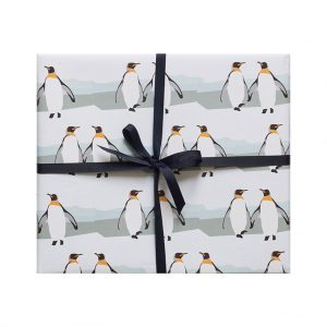Penguin Wrapping Paper by Lorna Syson at The Decorcafe