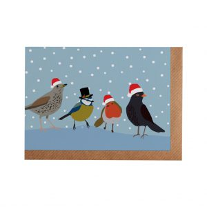 Songbirds Christmas Card by Lorna Syson at The Decorcafe - Cutout Image