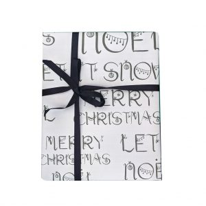 Festive Words Wrapping Paper by Lorna Syson at The Decorcafe - Cutout Image
