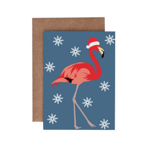 Felicity the Flamingo Christmas Card by Lorna Syson at The Decorcafe