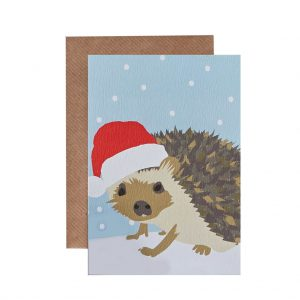 Henry the Hedgehog Christmas Card by Lorna Syson at The Decorcafe - Cutout Image