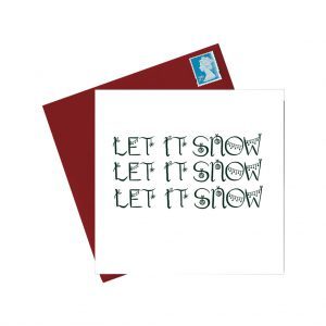 Let It Snow Christmas Card by Lorna Syson at The Decorcafe - Cutout Image
