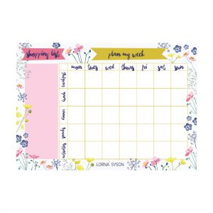 Meadow Weekly Meal Planner by Lorna Syson at The Decorcafe - Cutout Image