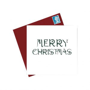 Merry Christmas Card by Lorna Syson at The Decorcafe - Cutout Image