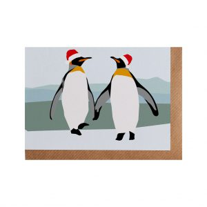 Peter & Paul Penguin Christmas Card by Lorna Syson at The Decorcafe