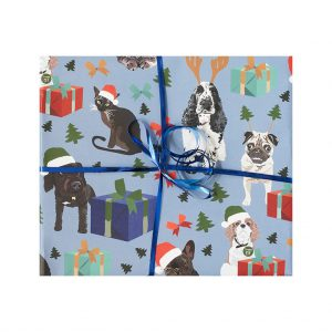 Pets Presents Wrapping Paper by Lorna Syson at The Decorcafe - Cutout Image