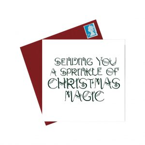 Sprinkle of Magic Christmas Card by Lorna Syson at The Decorcafe - Cutout Image