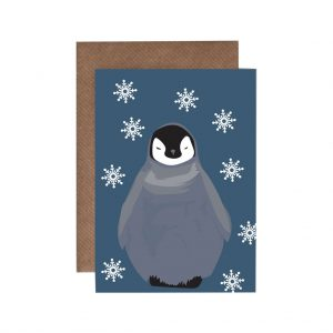 Thea the baby Penguin Christmas Card by Lorna Syson at The Decorcafe