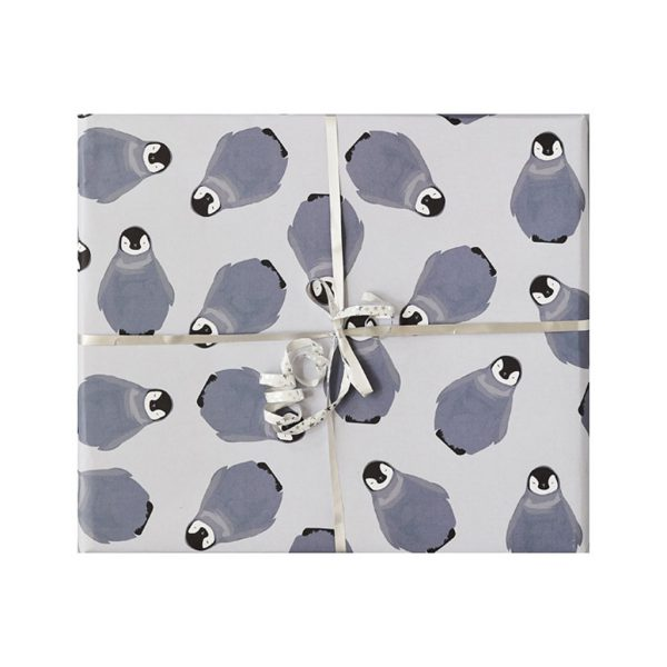 Thea Baby Penguin Wrapping Paper by Lorna Syson cutout image at The Decorcafe