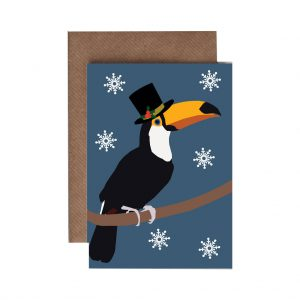 Thomas the Toucan Christmas Card by Lorna Syson at The Decorcafe