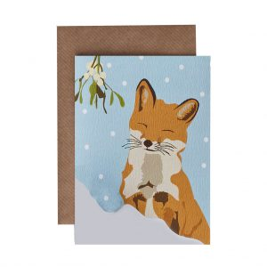 Victoria the Fox Christmas Card by Lorna Syson at The Decorcafe - Cutout Image