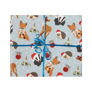Woodland Animals Christmas Wrapping Paper by Lorna Syson at The Decorcafe - Cutout Image
