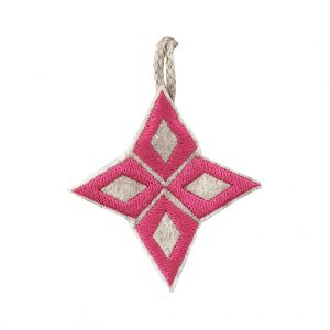 Pink Nativity Star Christmas Decoration by Marie Murphy Studio at The Decorcafe - Cutout Image