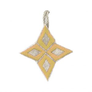 Yellow Nativity Star Christmas Decoration by Marie Murphy Studio at The Decorcafe - Cutout Image