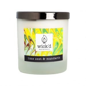 Wick'd Wax Botanics Lime Zest & Mandarin Candle at The Decorcafe - Cutout Image