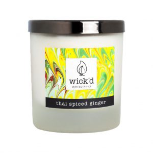 Wick'd Wax Botanics Thai Spiced Ginger Candle at The Decorcafe - Cutout Image