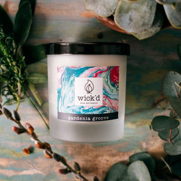 Wick'd Wax Botanics Gardenia Groove Candle at The Decorcafe - Lifestyle Image