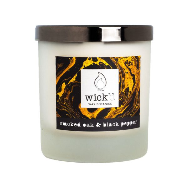 Smoked Oak & Black Pepper Candle by Wick'd Wax at The Decorcafe - Cutout Image