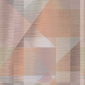 Butia Soft Red/Multi Wallpaper by Elizabeth Ockford at The Decorcafe - Detail Image