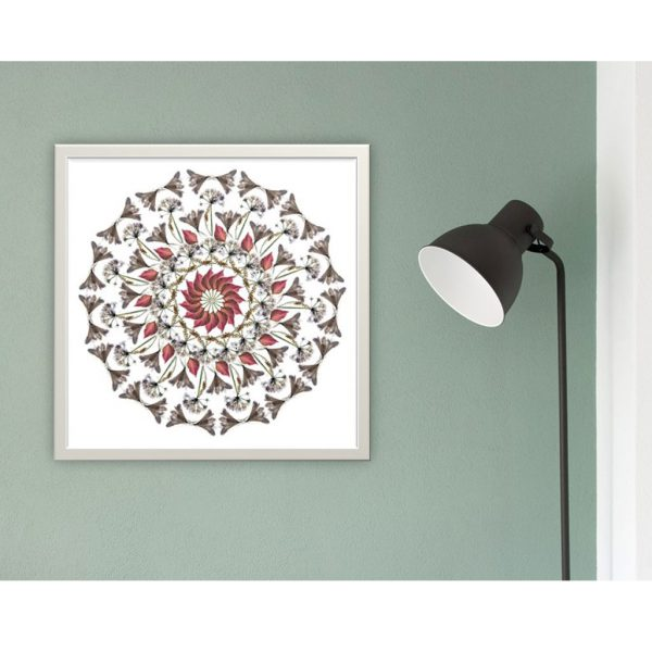 White Flowers (lll) Limited Edition Print by Morgan-Davies Art at The Decorcafe - Lifestyle Image