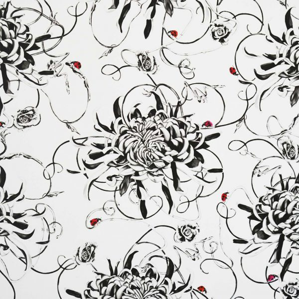Entangled Chrysanthemums Wallpaper by Susannah Weiland Collections at The Decorcafe