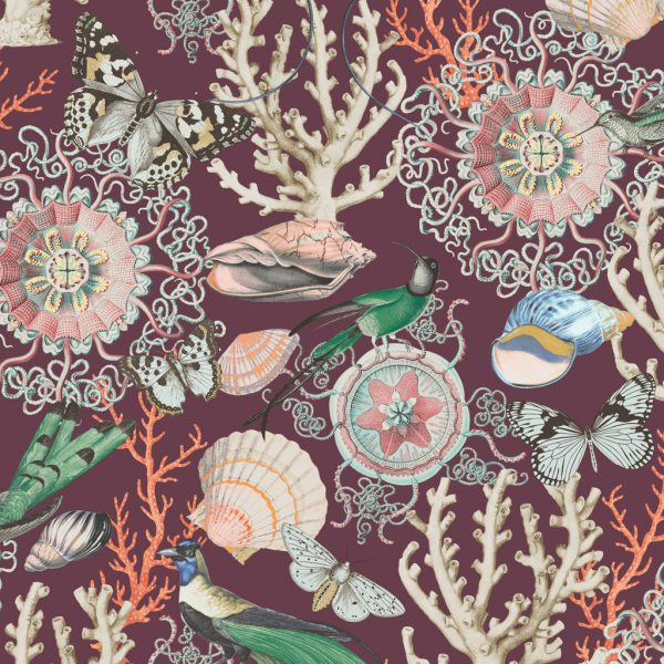 Bahama Wine Wallpaper by Elizabeth Ockford at The Decorcafe - Detail Image